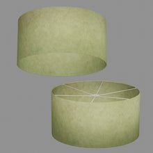 Drum Lamp Shade - P56 - Green Lokta , 60cm(d) x 30cm(h)