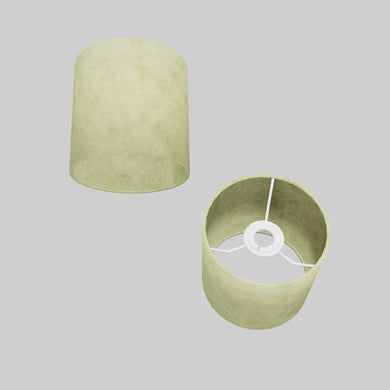 Drum Lamp Shade - P56 - Green Lokta , 15cm(d) x 15cm(h)