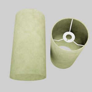 Drum Lamp Shade - P56 - Green Lokta , 15cm(d) x 30cm(h)