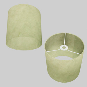 Drum Lamp Shade - P56 - Green Lokta , 25cm x 25cm