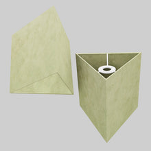 Triangle Lamp Shade - P56 - Green Lokta , 20cm(w) x 20cm(h)