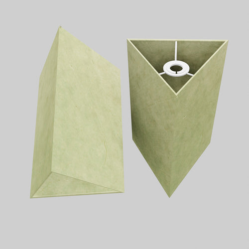 Triangle Lamp Shade - P56 - Green Lokta , 20cm(w) x 30cm(h)