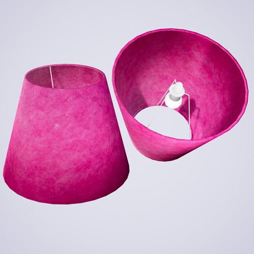 Conical Lamp Shade P57 - Hot Pink Lokta, 23cm(top) x 40cm(bottom) x 31cm(height)