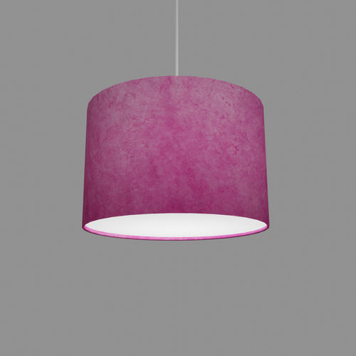 Drum Lamp Shade - P57 - Hot Pink Lokta, 30cm(d) x 20cm(h)