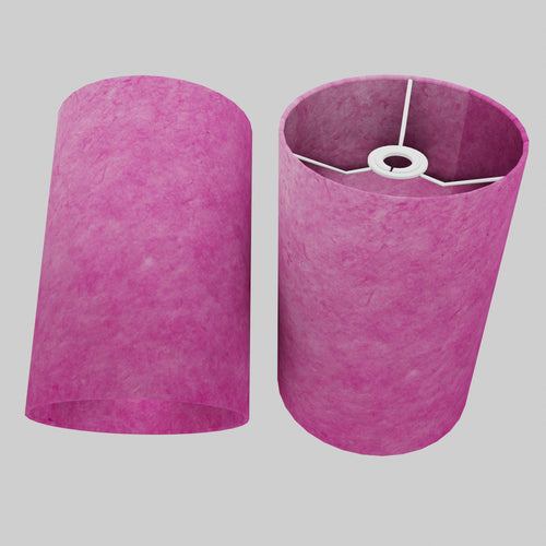 Drum Lamp Shade - P57 - Hot Pink Lokta, 20cm(d) x 30cm(h)