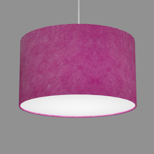 Drum Lamp Shade - P57 - Hot Pink Lokta, 35cm(d) x 20cm(h)