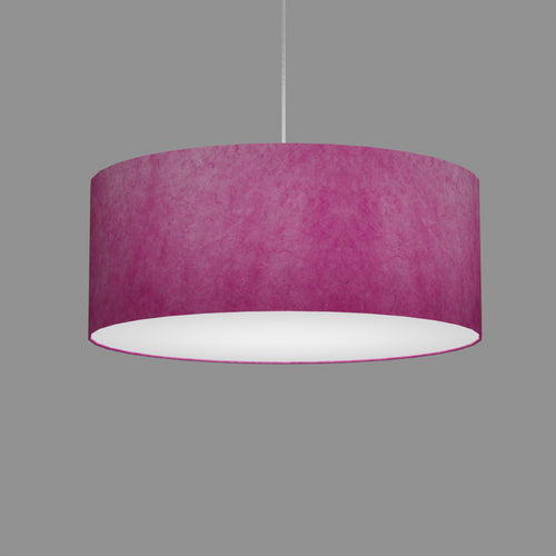 Drum Lamp Shade - P57 - Hot Pink Lokta, 50cm(d) x 20cm(h)