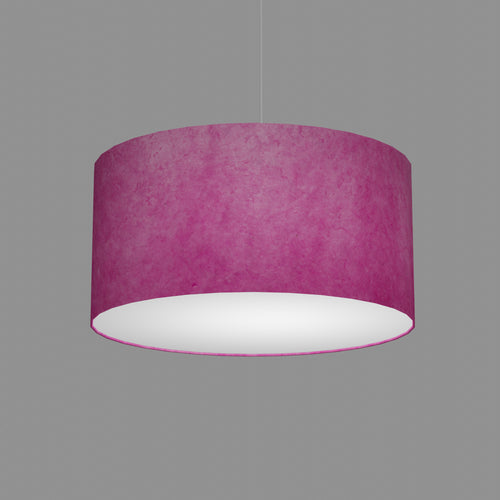 Drum Lamp Shade - P57 - Hot Pink Lokta, 50cm(d) x 25cm(h)