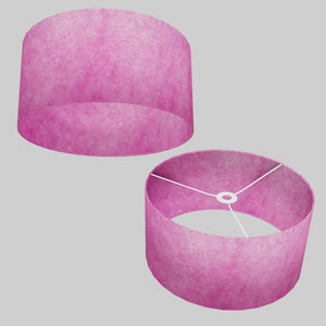 Drum Lamp Shade - P57 - Hot Pink Lokta, 40cm(d) x 20cm(h)