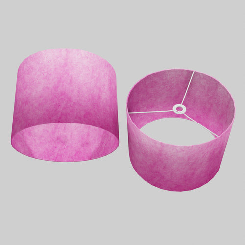 Drum Lamp Shade - P57 - Hot Pink Lokta, 40cm(d) x 30cm(h)