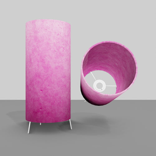 Free Standing Table Lamp Small - P57 ~ Hot Pink Lokta