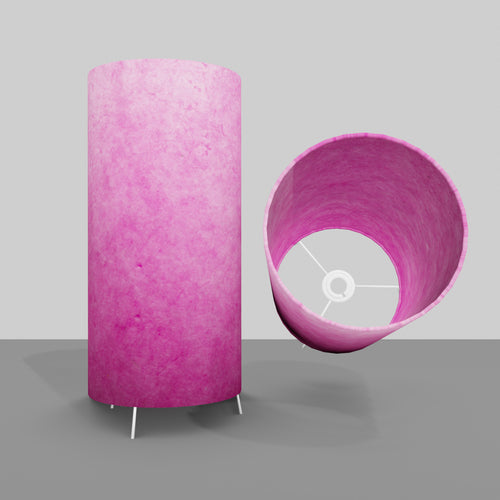 Free Standing Table Lamp Large - P57 ~ Hot Pink Lokta