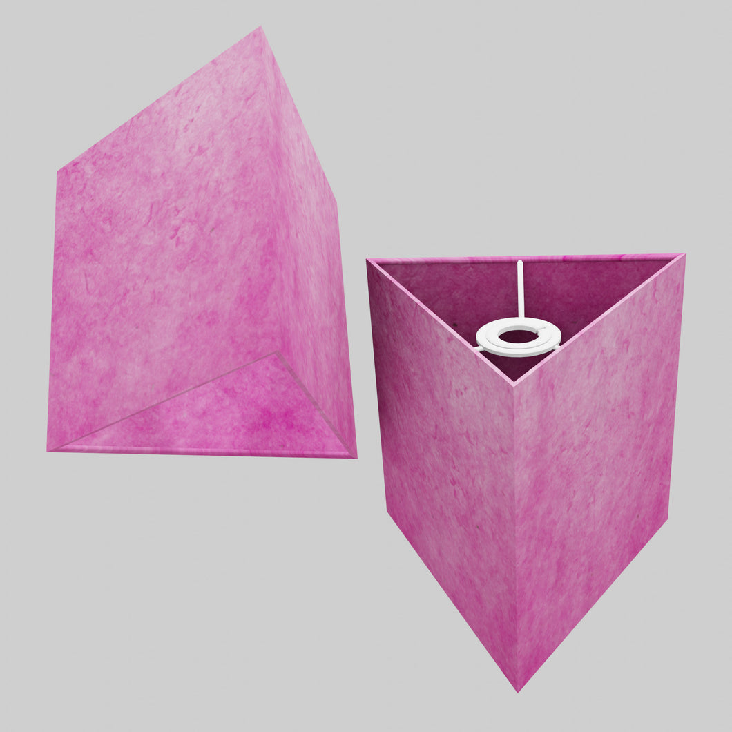 Triangle Lamp Shade - P57 - Hot Pink Lokta, 20cm(w) x 20cm(h)