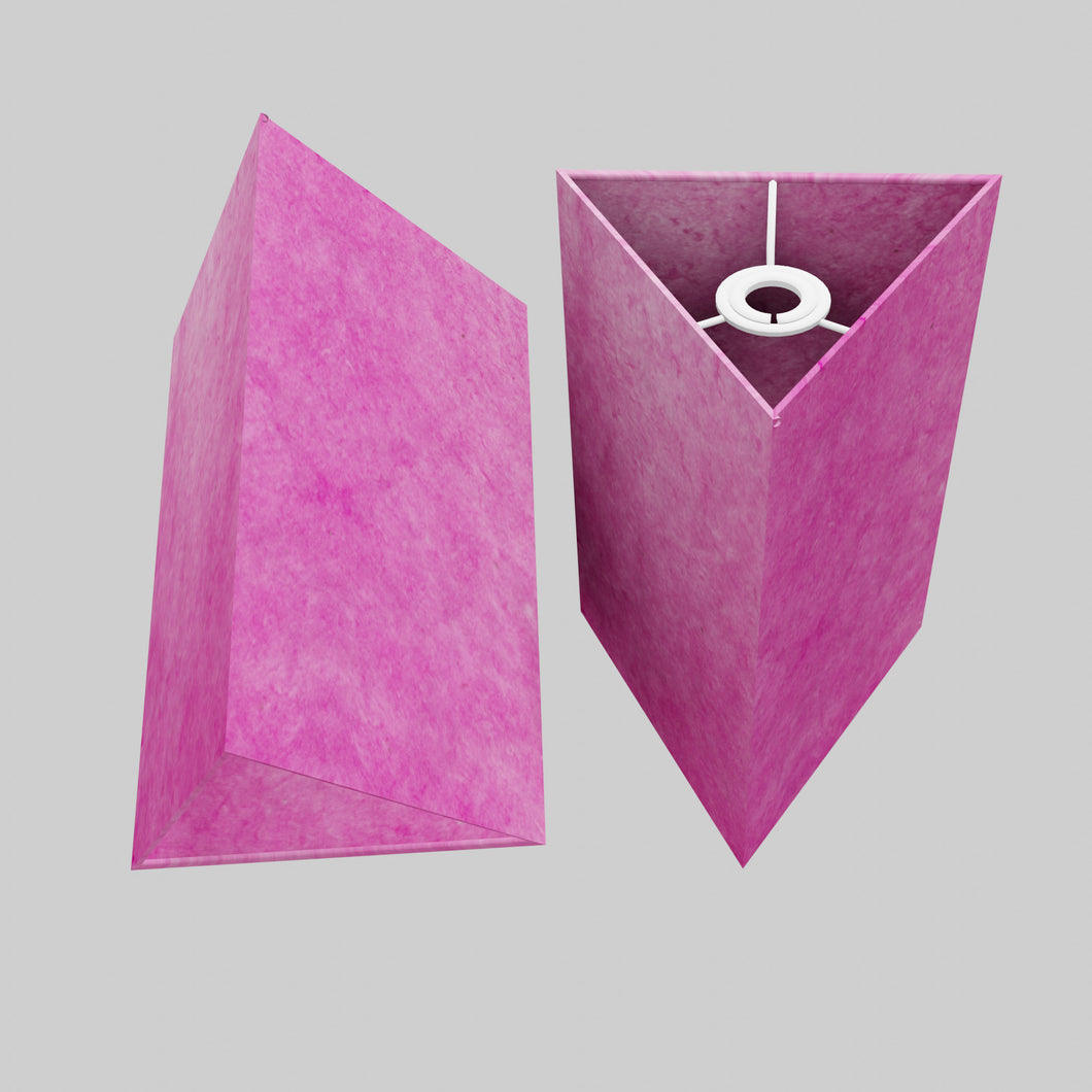 Triangle Lamp Shade - P57 - Hot Pink Lokta, 20cm(w) x 30cm(h)