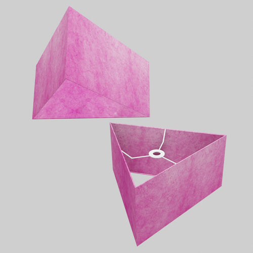 Triangle Lamp Shade - P57 - Hot Pink Lokta, 40cm(w) x 20cm(h)