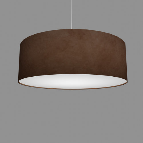 Drum Lamp Shade - P58 - Brown Lokta, 60cm(d) x 20cm(h)