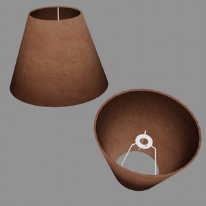 Conical Lamp Shade P58 - Brown Lokta, 15cm(top) x 30cm(bottom) x 22cm(height)