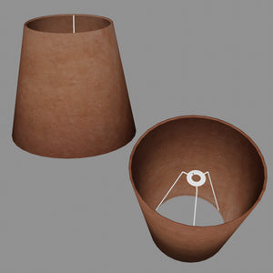 Conical Lamp Shade P58 - Brown Lokta, 23cm(top) x 35cm(bottom) x 31cm(height)