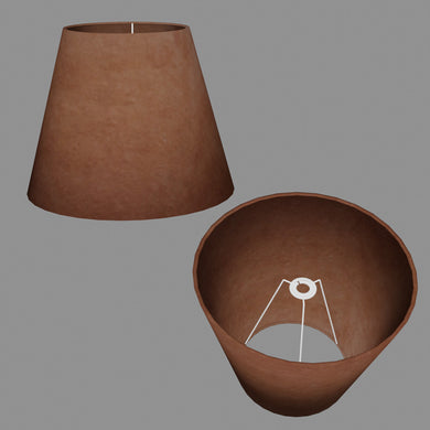Conical Lamp Shade P58 - Brown Lokta, 23cm(top) x 40cm(bottom) x 31cm(height)