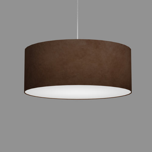 Drum Lamp Shade - P58 - Brown Lokta, 50cm(d) x 20cm(h)