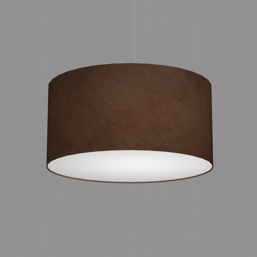 Drum Lamp Shade - P58 - Brown Lokta, 50cm(d) x 25cm(h)