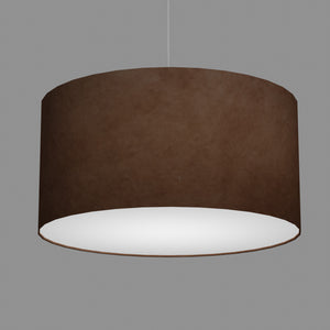 Drum Lamp Shade - P58 - Brown Lokta, 60cm(d) x 30cm(h)