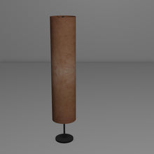 Drum Floor Lamp - P58 - Brown Lokta, 22cm(d) x 114cm(h)