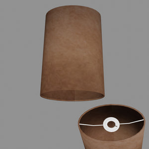 Oval Lamp Shade - P58 - Brown Lokta, 20cm(w) x 30cm(h) x 13cm(d)