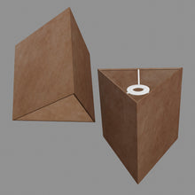 Triangle Lamp Shade - P58 - Brown Lokta, 20cm(w) x 20cm(h)