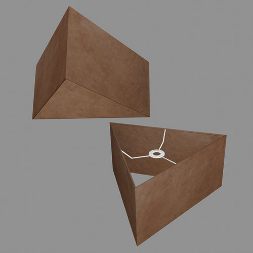 Triangle Lamp Shade - P58 - Brown Lokta, 40cm(w) x 20cm(h)