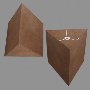 Triangle Lamp Shade - P58 - Brown Lokta, 40cm(w) x 40cm(h)