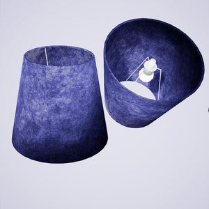 Conical Lamp Shade P59 - Navy Blue Lokta, 23cm(top) x 35cm(bottom) x 31cm(height)