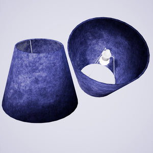 Conical Lamp Shade P59 - Navy Blue Lokta, 23cm(top) x 40cm(bottom) x 31cm(height)