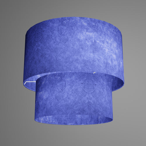 2 Tier Lamp Shade - P59 - Navy Blue Lokta, 40cm x 20cm & 30cm x 15cm