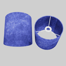 Drum Lamp Shade - P59 - Navy Blue Lokta, 20cm(d) x 20cm(h)