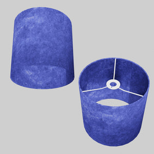 Drum Lamp Shade - P59 - Navy Blue Lokta, 25cm x 25cm