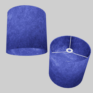 Drum Lamp Shade - P59 - Navy Blue Lokta, 30cm(d) x 30cm(h)