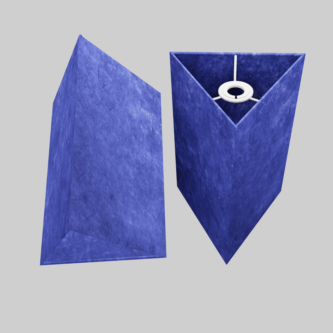 Triangle Lamp Shade - P59 - Navy Blue Lokta, 20cm(w) x 30cm(h)