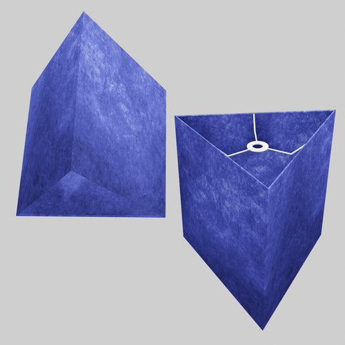 Triangle Lamp Shade - P59 - Navy Blue Lokta, 40cm(w) x 40cm(h)