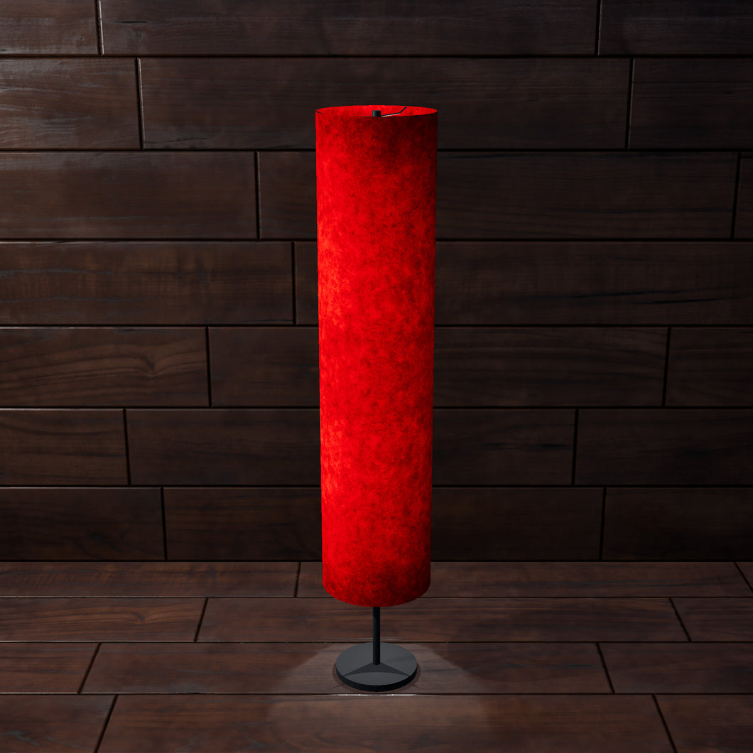 Drum Floor Lamp - P60 - Red Lokta, 22cm(d) x 114cm(h)