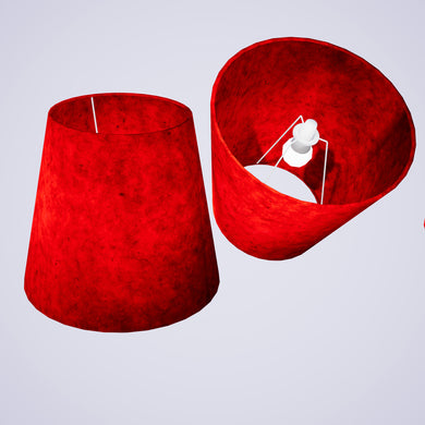 Conical Lamp Shade P60 - Red Lokta, 23cm(top) x 35cm(bottom) x 31cm(height)