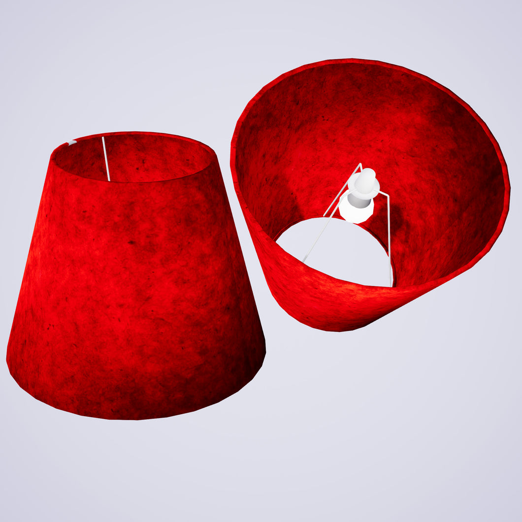 Conical Lamp Shade P60 - Red Lokta, 23cm(top) x 40cm(bottom) x 31cm(height)