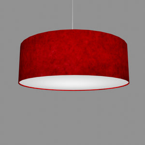Drum Lamp Shade - P60 - Red Lokta, 60cm(d) x 20cm(h)
