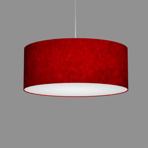 Drum Lamp Shade - P60 - Red Lokta, 50cm(d) x 20cm(h)