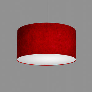 Drum Lamp Shade - P60 - Red Lokta, 50cm(d) x 25cm(h)