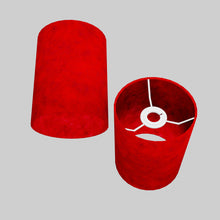 Drum Lamp Shade - P60 - Red Lokta, 15cm(d) x 20cm(h)