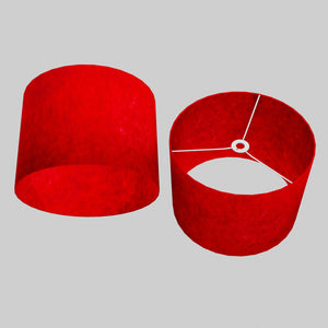 Drum Lamp Shade - P60 - Red Lokta, 40cm(d) x 30cm(h)