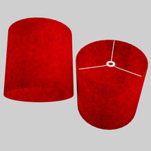 Drum Lamp Shade - P60 - Red Lokta, 40cm(d) x 40cm(h)
