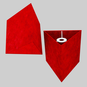 Triangle Lamp Shade - P60 - Red Lokta, 20cm(w) x 20cm(h)