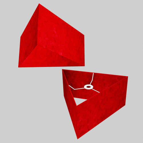 Triangle Lamp Shade - P60 - Red Lokta, 40cm(w) x 20cm(h)